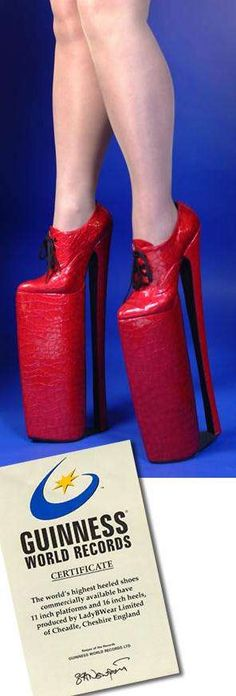 "16""  Stilettos...you'd go sky diving in these!!"