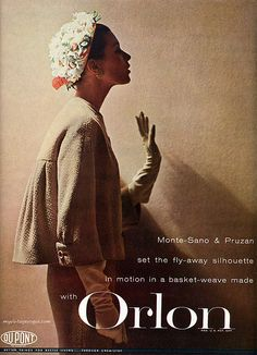 Du Pont 1957 / Barbara Mullen wearing suit by Monte-Sano & Pruzan | by myvintagevogue
