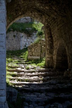 Archway Stari Bar, the Old Town of Bar, Montenegro Baba Yaga, Stair Steps, All Nature, Old Stone, Stairway To Heaven, Montenegro, Abandoned Places, Pathways, Architecture