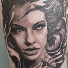 Girl tattoo design by Carlos Torres 2