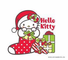 Hello Kitty in a Christmas stocking Hello Kitty Christmas, Hello Kitty Birthday, Christmas Cats, Merry Christmas, Xmas, Christmas Blessings, Christmas Stocking, Christmas Time, Images Hello Kitty