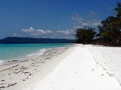 A deserted beach (Koh Rong, Cambodia looks nice)
