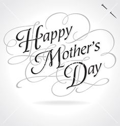 Happy mothers day original custom hand lettering vector 4401850 - by letterstock on VectorStock®