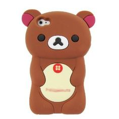 Amazon.com: 3D Brown Rilakkuma Bear Soft Snap-On Silicone Rubber Cover Case for Apple iPhone 4 4S adorable cute gift Brown: Cell Phones & Accessories