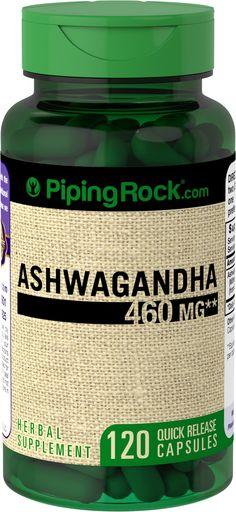 Buy Discounted Ashwagandha 460 mg 120 Capsules Vitamins & Supplements online at PipingRock.com