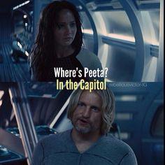 Where's Peeta? In the Capitol.