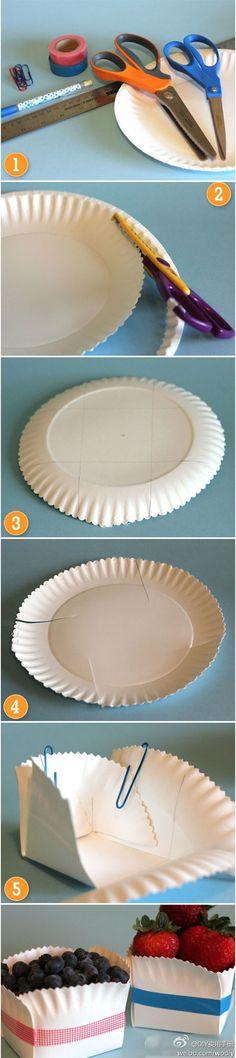 Coisinhas Sotore - Faça em casa: Caixa descartável para frutas