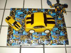 Coolest Transformer Bumblebee Cake 25 cakepins.com