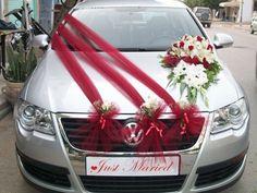decoracion de carros para boda con telas