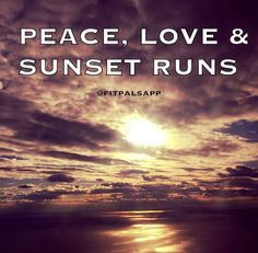 chase the sun #run #fitpals