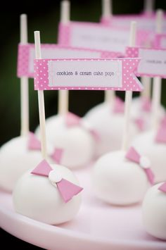 cake pops with pink