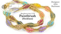 Paintbrush Necklace ~ Seed Bead Tutorials