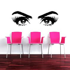 Makeup Wall Decal Vinyl Sticker Decals Art Home Decor Design Mural Make up Girl Woman Fashion Cosmetic Hairdressing Hair Beauty Salon