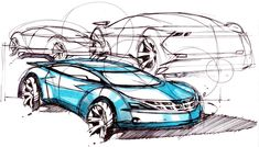 Cars by DK: Typical car sketches