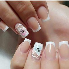 French Nails, Nail Manicure, Diy Nails, Acrylic Nail Designs, Nail Art Designs, Weding Nails, Coffin Nails Long, Pretty Nail Art, Nagel Gel