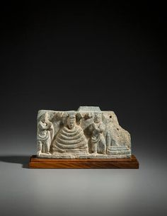 A green schist relief panel of Siddhartha protected by Muchalinda Ancient Region of Gandhara, 1st-2nd century