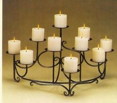 Fireplace candelabra: options for our non-functional (yet) fireplace