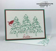 Stamps-N-Lingers.  Peaceful Pines, Perfect Pines, Foxy Friends, Endless Birthday Wishes, Softly Falling TIEF. https://stampsnlingers.com/2016/10/04/stampin-up-endlessly-foxy-peaceful-pines/