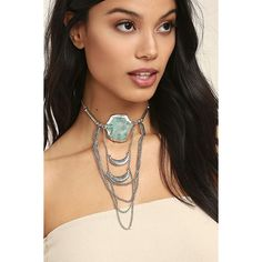 Style Revolution Turquoise and Silver Necklace ($22) ❤ liked on Polyvore featuring jewelry, necklaces, silver, silver bead necklace, bohemian necklaces, silver charm necklace, boho beaded necklace and turquoise silver necklace