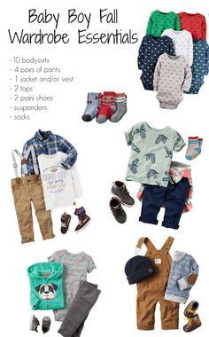 Building a Wardrobe for Baby Boy, Baby Boy Clothing Checklist, Baby Boy Clothes, Carters, #ad @carters