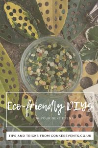Eco-friendly DIYs that you can use to decorate your next event! These DIYs won't only help save the environment but will also help you save some money at the same time. Conkers, Event Planning, Diys, Eco Friendly, Decor Ideas, Events, Party, Bricolage, Do It Yourself