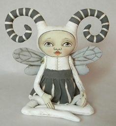 Zora Bug--- Contemporary Folk Art Doll