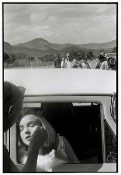 "Marilyn Monroe during the filming of ""The Misfits."" Reno, Nevada, 1960. Photograph by Bruce Davidson."