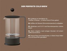 Der perfekte Cold Brew | Cold Brew Kaffee selber machen | Cold Brew Rezept Cocktail Drinks, Cold Drinks, Beverages, Cocktails, Cold Brew Kaffee, Tea Smoothies, Cool Cafe, Healthy Recipes, Healthy Food