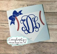 Buy yours today!  Great quality and prices! Baseball Monogram Decal  Baseball Yeti Decal  by VinylosityCo