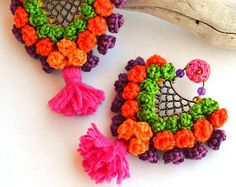 Your place to buy and sell all things handmade Natural Accessories, Handmade Accessories, Knitting Designs, Beaded Embroidery, Statement Earrings, Jewelry Crafts, Crochet Earrings, Shabby, Necklaces