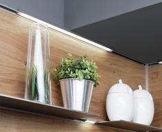 LED-Lichtprofil edelstahlfarbig