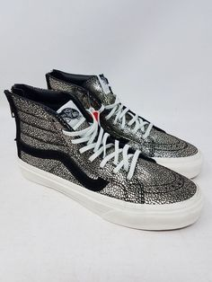 38a6bd99e6 VANS SK8-HI SLIM ZIP GOLD DOTS SKATE SNEAKERS MEN S SIZE 3.5 WOMEN S SIZE 5  NWOB  fashion  clothing  shoes  accessories  unisexclothingshoesaccs .