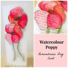 Should do this on a copy of In Flanders Field. Should do this on a copy of In Flanders Field. Watercolour Poppy Remembrance D Poppy Craft For Kids, Art And Craft, Art For Kids, Remembrance Day Activities, Remembrance Day Poppy, Worry Dolls, Craft Activities For Kids, Crafts For Kids, Craft Ideas