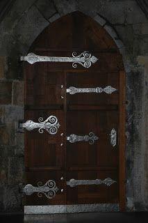 A door in the church inside Prague Castle.