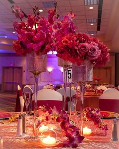 Glamorous and Alluring #Wedding Centerpieces