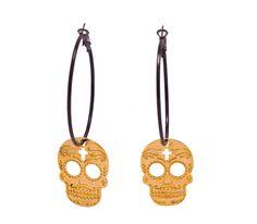sugar metal skull goldblack