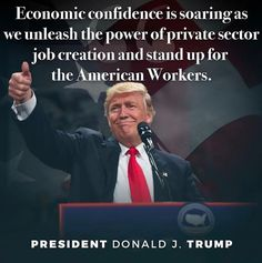Trump making America great again! Keeping his campaign promises to create jobs for Americans!