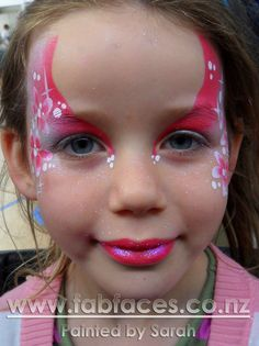 Flower fairy design face painting ideas for kids