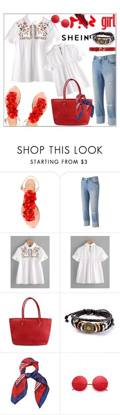 """""""#shein"""" by bilbomex ❤ liked on Polyvore featuring Charlotte Olympia, Jennifer Lopez and Gucci"""
