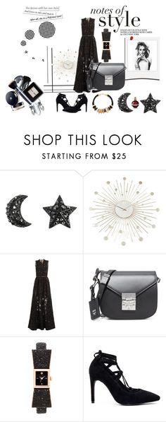 """Fall in Black!!"" by stylediva20 ❤ liked on Polyvore featuring Polaroid, Retrò, Elie Saab, MCM, Kate Spade, Jeffrey Campbell and Lizzie Fortunato"