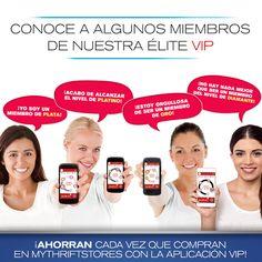 ¡Ahorran cada vez que compran en MYTHRIFTSTORES con la aplicación VIP!