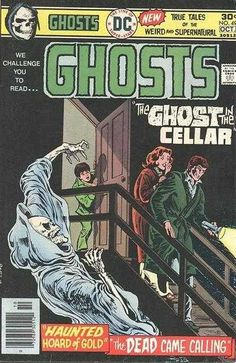 A cover gallery for the comic book Ghosts Old Comic Books, Vintage Comic Books, Vintage Comics, Ec Comics, Comics Story, Marvel Comics, Creepy Comics, Horror Comics, Book Cover Art