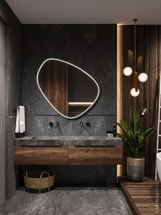scandinavian interior design Badezimmer Inspiration // Cartelle Design All you need to know about Wh Bathroom Design Luxury, Home Interior Design, Modern Small Bathroom Design, Modern Mirror Design, Modern Luxury Bathroom, Interior Colors, Interior Ideas, Small Luxury Bathrooms, Bistro Interior