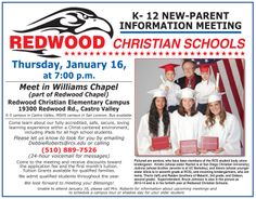 Come to the New Parent Information Meeting on January 16!