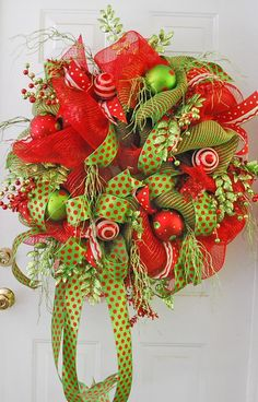 "Nancy just filmed a brand new video on ""How to Make a Deco Mesh Wreath""!  It is so easy -- Nancy guarantees that you will be able to make a beautiful wreath also! Downloadable / Viewable Video Price is $29.97  