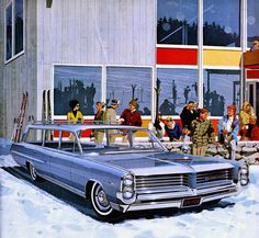 1964 Pontiac Bonneville Custom Safari - 'Ski, New England': Art Fitzpatrick and Van Kaufman