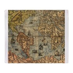 Fabric yardage instant quilt with many maps yardage of antique world map vintage atlas historical throw blanket gumiabroncs Gallery
