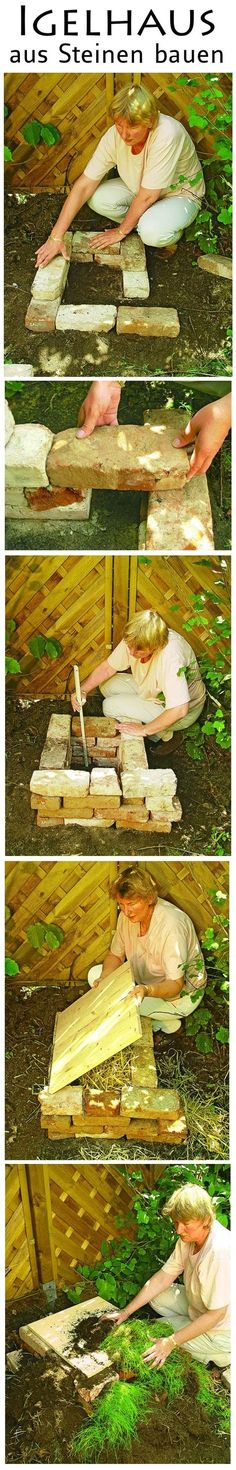 Mit alten Backsteinen kannst du ganz leicht ein Igelhaus bauen. Wir zeigen Schritt für Schritt, wie es geht.