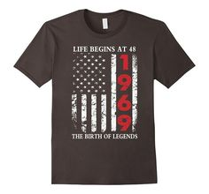 Amazon.com: 1969 The Birth Of Legends American Flag T-Shirt, 48th Gift: Clothing