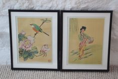 Chinese Watercolour on Silk Paintings